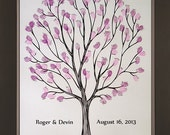 Tempo Wedding Thumbprint Tree for up to 100 Guests