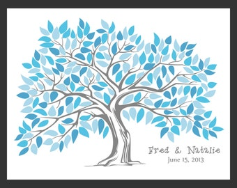 Personalized Wedding Guest Book Tree for up to 200 guests - Stephanie
