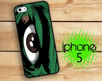 iPhone 5S SE Comic Book Eye Plastic or Rubber Case for iPhone 5 iPhone 5S Hulking Green Monster
