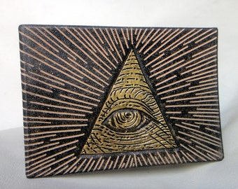 "Leather Wallet ""Eye of Providence"""