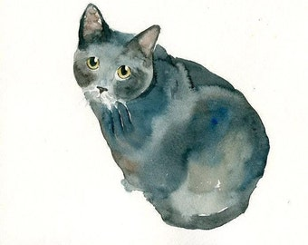 Custom pet portrait Pet portrait memorial custom cat portrait Custom pet painting Custom dog portrait Original watercolor painting 8X10inch