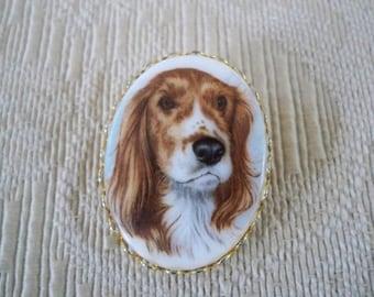 Vintage Jewelry English Springer Spaniel Brooch Dog Lover Pin