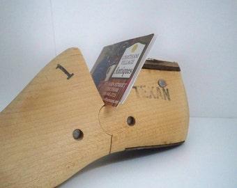 Vintage Home Decor Wood Child's Shoe Mold Texan Texas Pride