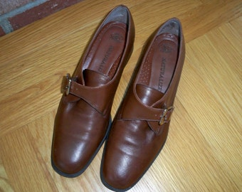 Vintage Brown Leather Naturalizer Women's Shoes 7.5M