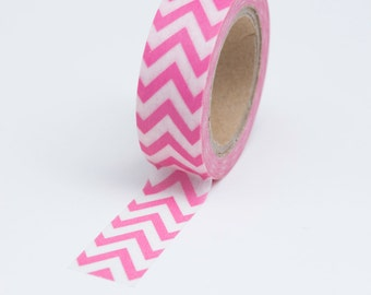 Washi Tape - 15mm - Pink Chevron - Deco Paper Tape No. 716