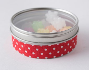 Fabric Deco Tape Red with White Polka Dots - Scrapbook Embellish Decorate - Colorful and Fun - Single Roll No. F79