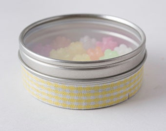 Fabric Deco Tape Yellow and White Gingham - Scrapbook Embellish Decorate - Colorful and Fun - Single Roll No. F91