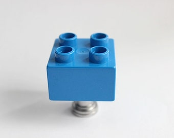 Kids Drawer Knobs made with Toy Brick in Dark Blue (TK03)