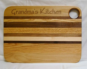 Personalized Engraved Wooden Cutting Board Large Size