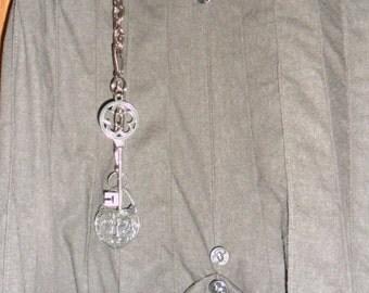 Steampunk  Dark Flax Linen Pirate Wench Skirt