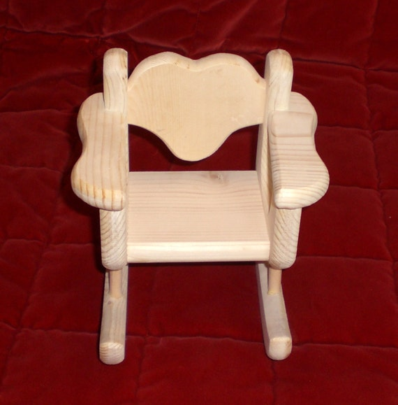 Unfinished Rocking Chair for Barbie size doll by by judyillicrafts