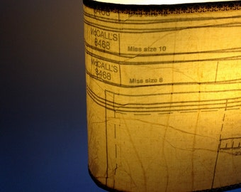 Vintage Dress Pattern Lamp Shade