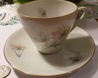 Original Hutschenreuter Vintage Cup with Saucer 1950s Perfect