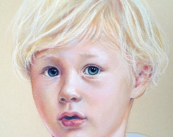 "11x14"" Custom Child Portrait Commission Pastel Painting"
