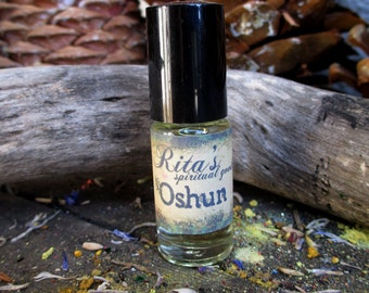 Rita's Oshun Hand Brewed Ritual Oil - Transformation, Empowerment, Beauty, Creativity, Answer Prayers - Pagan, Hoodoo, Magic, Witchcraft