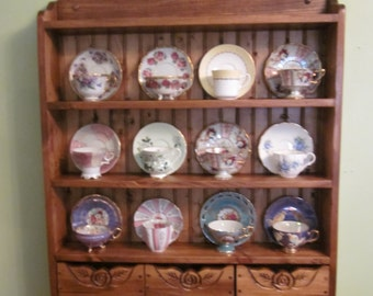 tea cup shelf 12 cup connoisseur edition