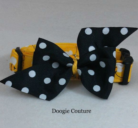 NEW UnBEElievably Cute  Dog Collar Size XS through Large by Doogie Couture