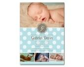 Preemie Birth Announcement - a printable photo card for your NICU grad (No. 12005)