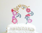 Hand Painted Whimsical Cake Topper