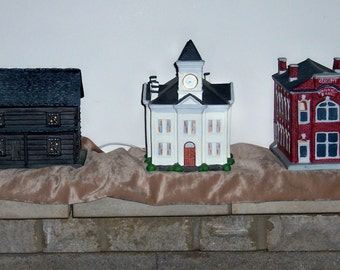 Limited Edition Porcelain Lighted Buildings Replica's from the Red River Gorge area of Eastern KY