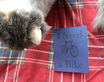 I Need a Bike - A short story