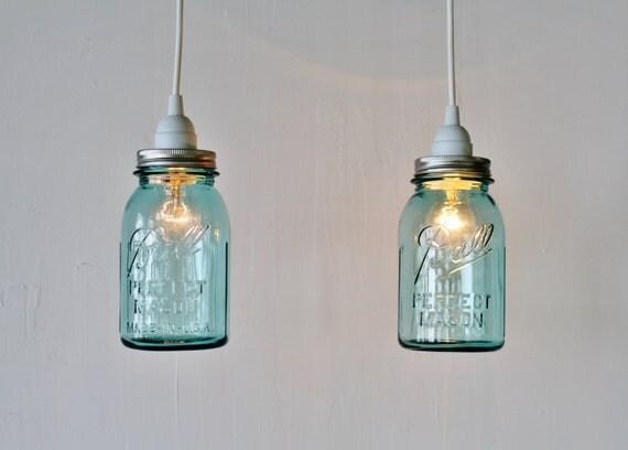 2 mason jar pendant lights pair of hanging pendant lamps with