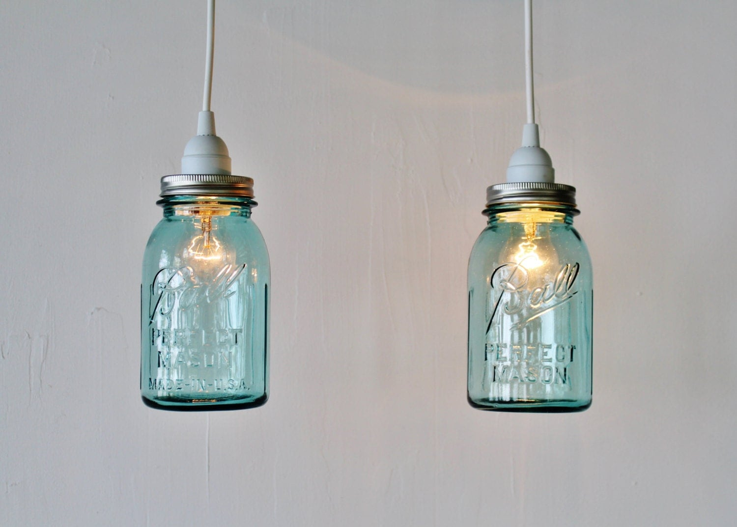2 mason jar pendant lights pair of hanging pendant lamps with