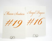 Sports Player Numbered Table Cards
