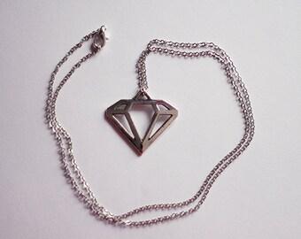 Diamond necklace - 46cm - 2
