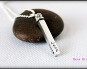 Sterling Silver Swivel Bar Personalized Hand Stamped Necklace