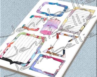 Artful Journal Spots (Brackets) Digital Collage Sheet