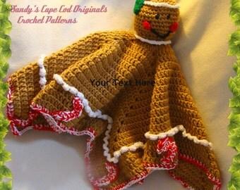 Gingerbread Crochet Lovie Blankie Crochet Pattern pdf689