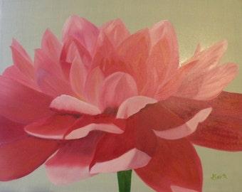 DAHLIA 16 X 20 Oil painting