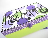 Hand Painted Jewelry Boxes-Personalized jewelry wooden boxes-trinket boxes-treasure keepers