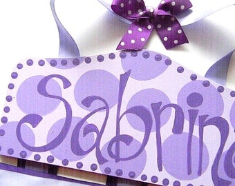 Bow Holder - Purple Plaque Hair Bow Holder-barrette holder