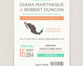 Locale - Modern destination wedding invitation with map