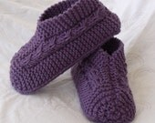 Hand Knit Bow Slippers or Booties