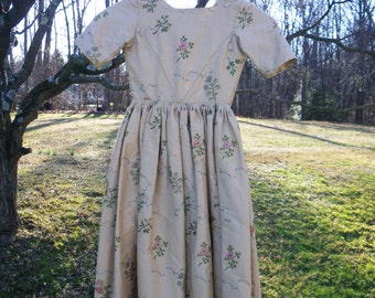 SALE Girl's Colonial Dress - vintage reproduction - hand stitched - Halloween