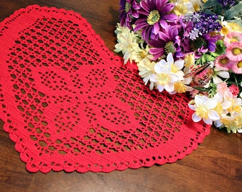 Crochet Red Heart doily