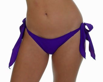 Purple Side Tie Scrunched Bottom- ONE SIZE Fits Most