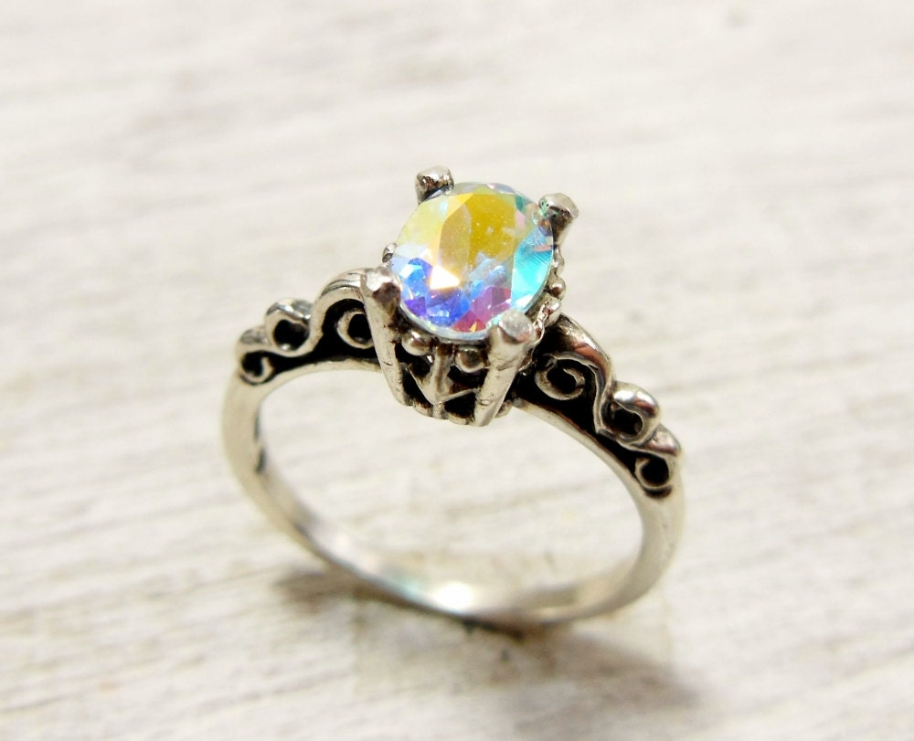 mystic topaz engagement ring topaz solitaire ring sterling