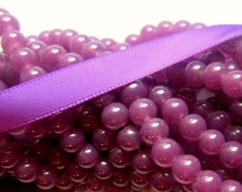 50 Glass Beads purple grape 6mm jewelry supplies spacer beads J6mmY