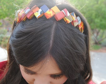 Recycled Origami Potato Chip Bag Headbands