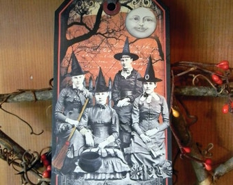 THE GATHERING - Primitive Halloween Tag