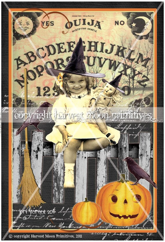PRIMITIVE HALLOWEEN CARDS - A Little More Hocus Pocus