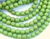 1 strand 8mm Round Turquoise Howlite Apple Green Full Bead Strand 51-53 beads