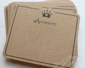 50 pcs of Imprint Hair Clip Display Card in Brown Kraft Paper for Hair Accessories and Jewelry for DIY