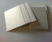 ATC ACEO 2.5x3.5in Hand Cut Blanks Wausau Metallics Card Stock Paper High Quality Pack of 10 - White Gold on Noble White