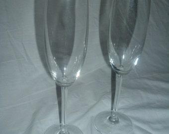 FLUTED CRYSTAL WINE Glasses Vintage