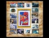 BLUES MUSIC ART, Digital Art, Art Print, Collage,  Music Gift